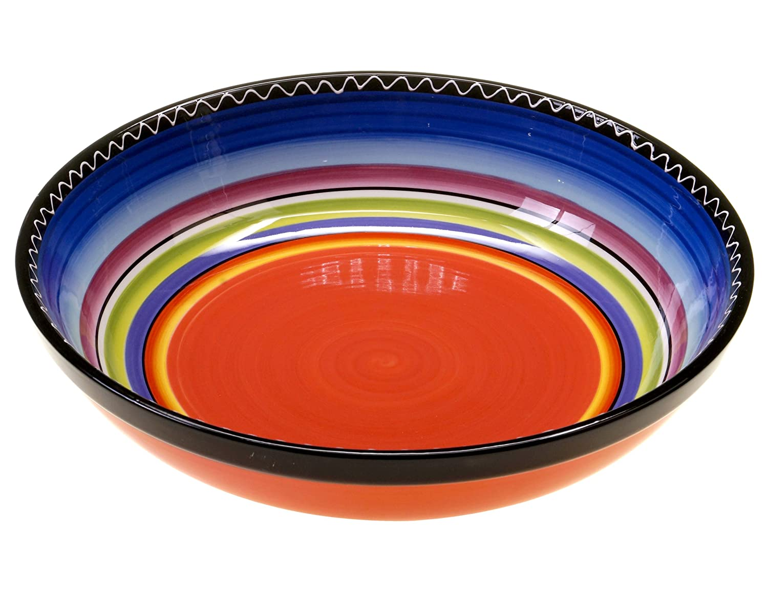 Certified International Tequila Sunrise Serving/Pasta Bowl, 13 by 3, Multicolored 13 by 3 Certified International Corp 43536