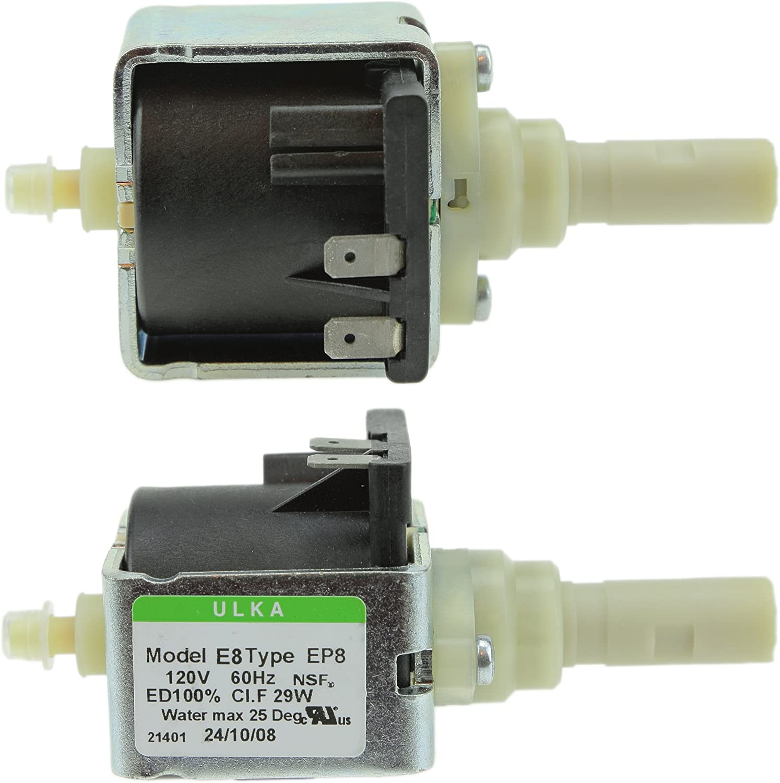 Ulka E Type/Ceme/de limpieza de vapor máquina de café Vibratory Bomba de agua EP8 29 W 120 V ED100% (fabricado en Italia): Amazon.es: Hogar