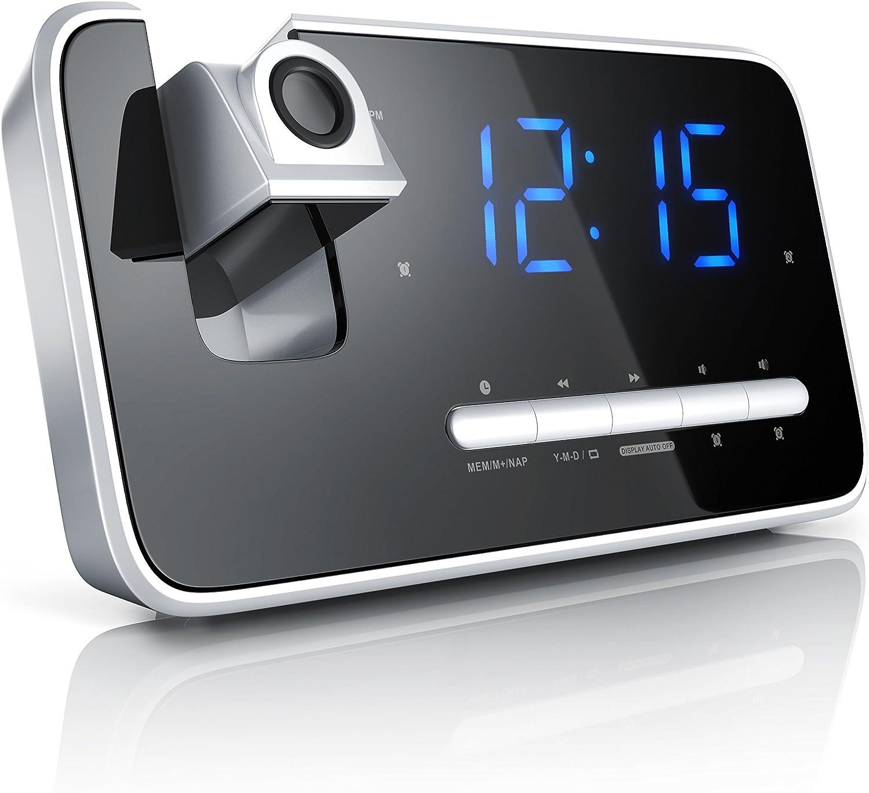 DHL// FM Radiowecker Projektionswecker Uhrenradio digitaler Wecker// NEU
