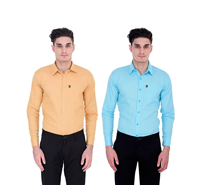 6b3c707efa7 London Looks Multi Colour Formal Shirts (Combo of 2) (Xx-Large ...