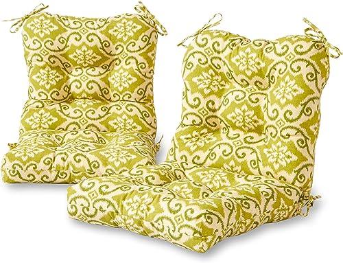 Greendale Home Fashions AZ6815S2-SHOREHAM Avocado Outdoor Chair Cushion Set of 2