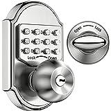 Elemake chaveiro sem chave com fechadura de entrada, fechadura de entrada, fechadura mecânica, aço inoxidável, código de aces
