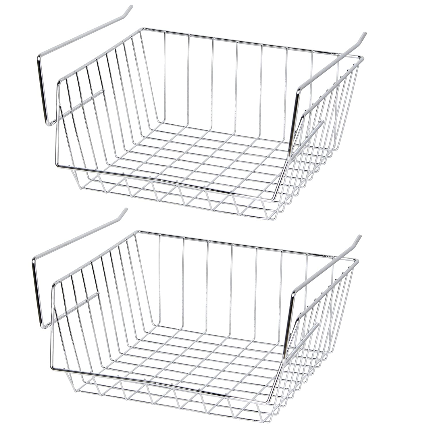 Lado (2X) Under Shelf Storage Basket - 30 cm - Stainless Steel - (SI-K1019)
