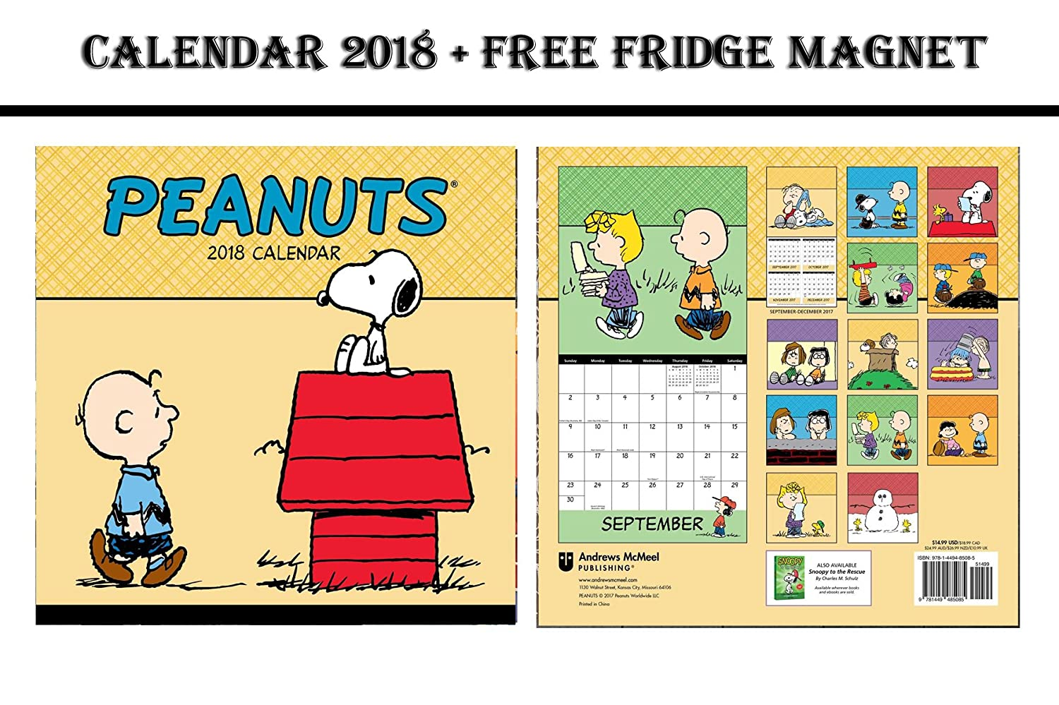 Meuble Salle De Bain Hydrofuge ~ Peanuts Snoopy Dog Official Calendrier 2018 Gerry Anderson
