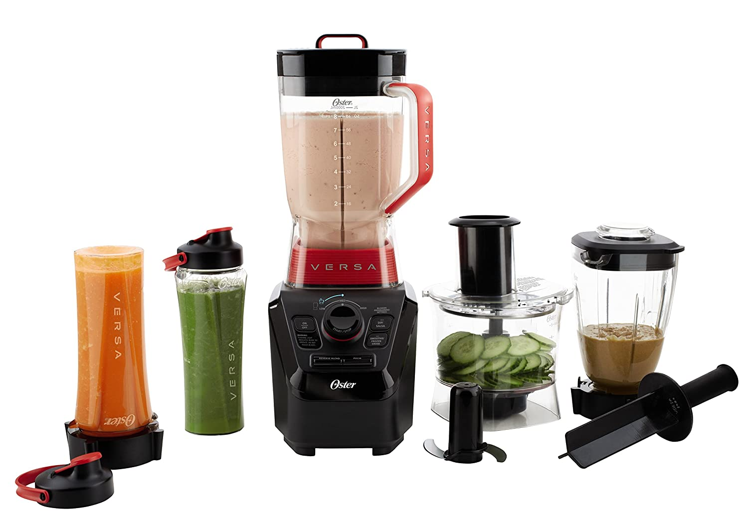 Oster Versa ProBLSTVB-104-000Series Blender with Food Processor Attachment, Blend-N-Go Smoothie Cups & 4-cup Mini Jar
