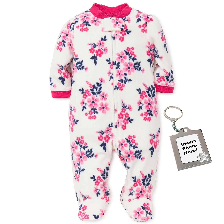 2831c47b7fdd Amazon.com  Little Me Flower Blanket Sleeper Fleece Kids One Piece ...