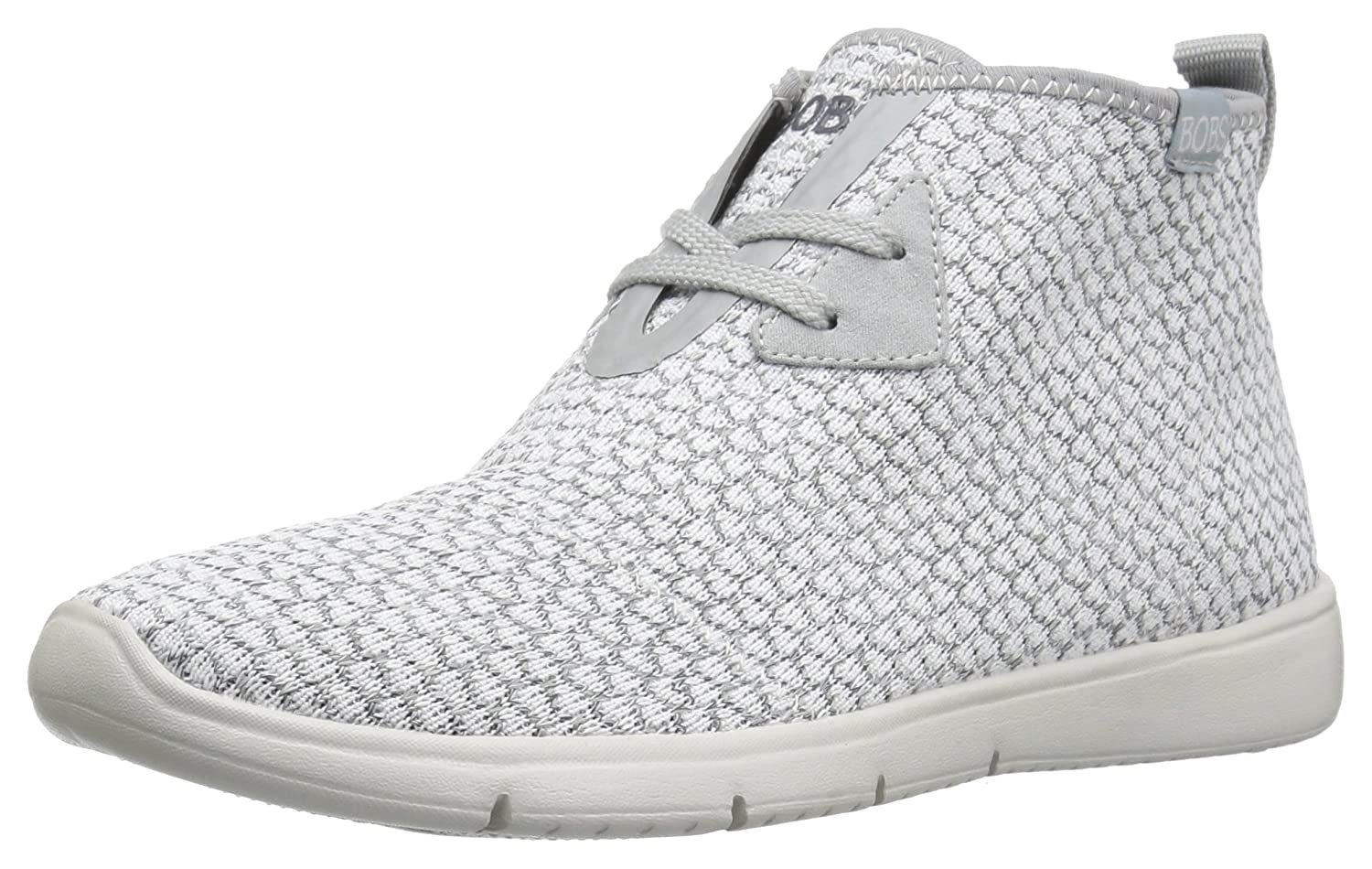 Skechers BOBS from Women's Pureflex 2-Knockoutz Flat B005AEFOJ8 8 B(M) US|White/Gray