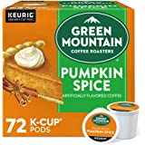 Green Mountain Coffee Roasters Pumpkin Spice, Single-Serve Keurig K-Cup Pods, Flavored Light Roast Coffee, 72 Count