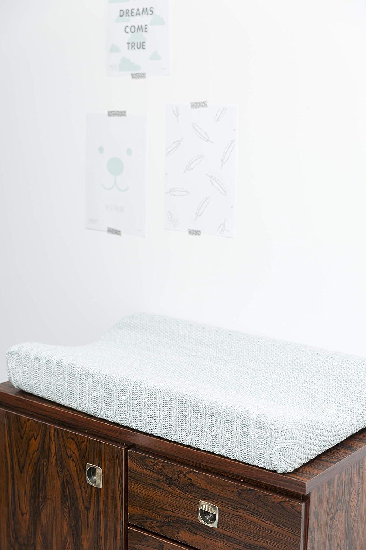 Meyco 2763084 Housse de matelas /à langer en 2 parties 100/% coton renforc/é Vert pierre 45 x 70 cm