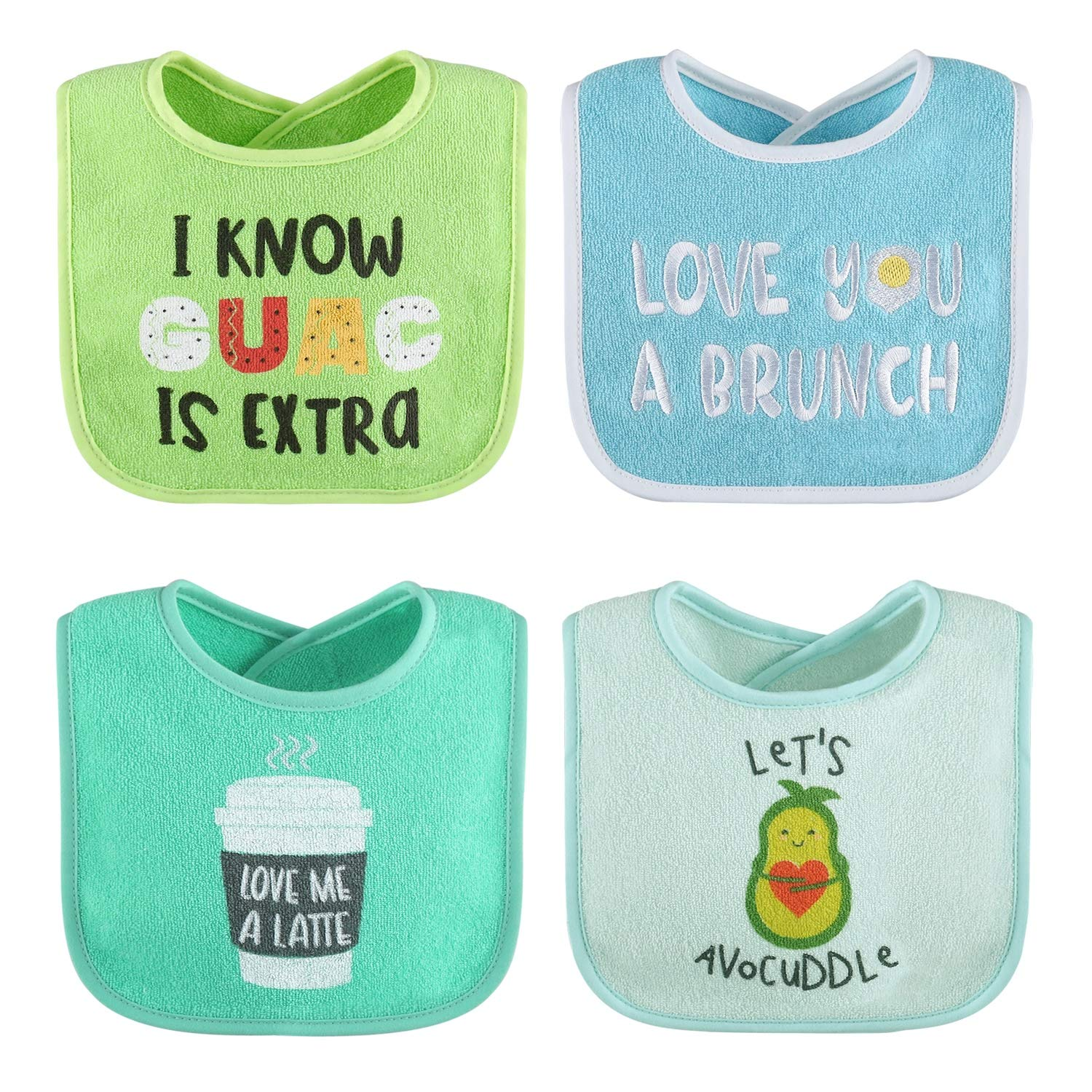 8 Pack Unisex Set for Feeding Teething The Peanutshell Terry Bib Set for Baby Boys or Girls Drooling