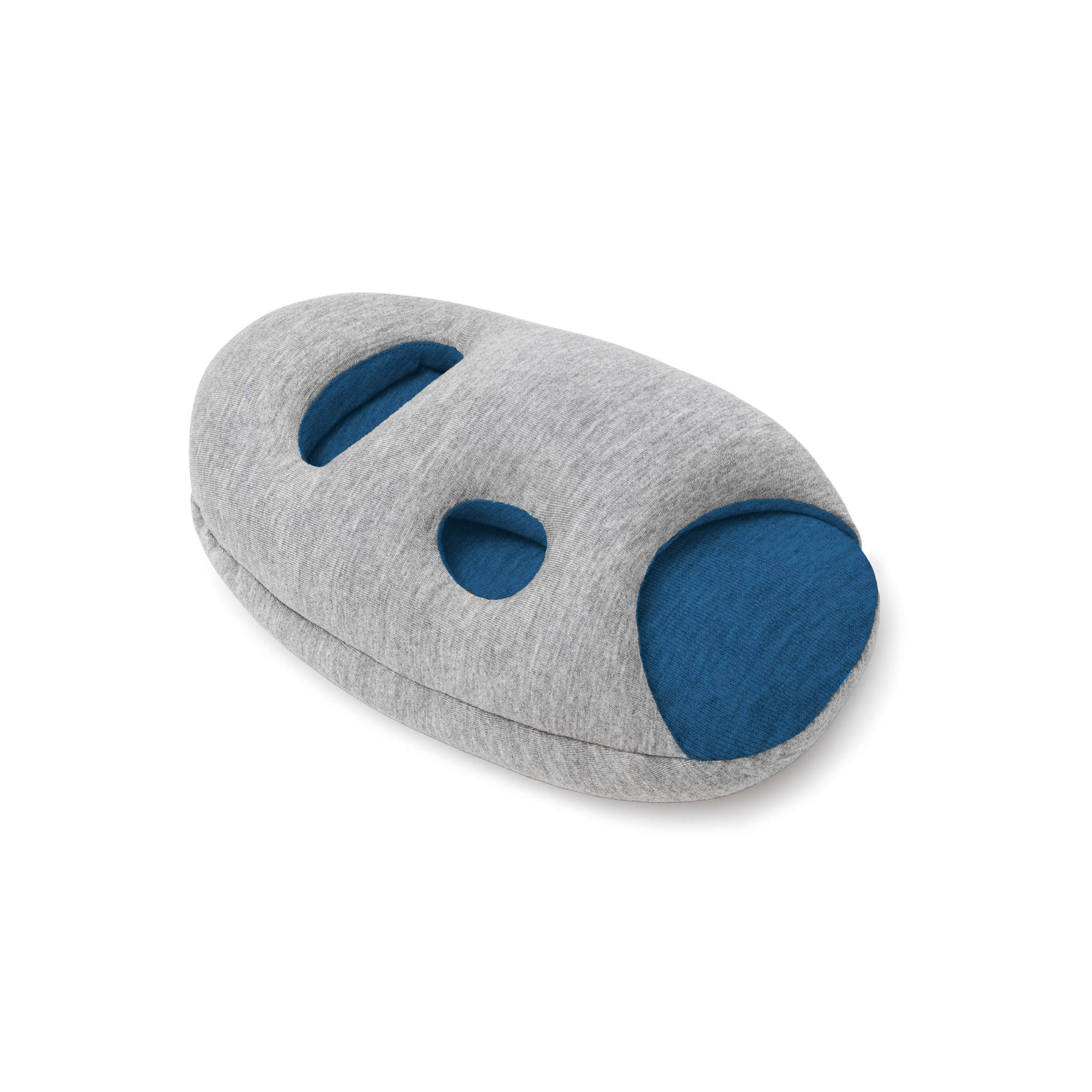 OSTRICH PILLOW MINI Travel Pillow for Airplane Head Support - Travel Accessories for Hand and Arm Rest, Power Nap on Flight and Desk - Sleepy Blue by OSTRICH PILLOW