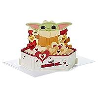 Hallmark Paper Wonder Star Wars Baby Yoda Pop Up Love Card or Anniversary Card (Reaching Out) (799VFE1032)