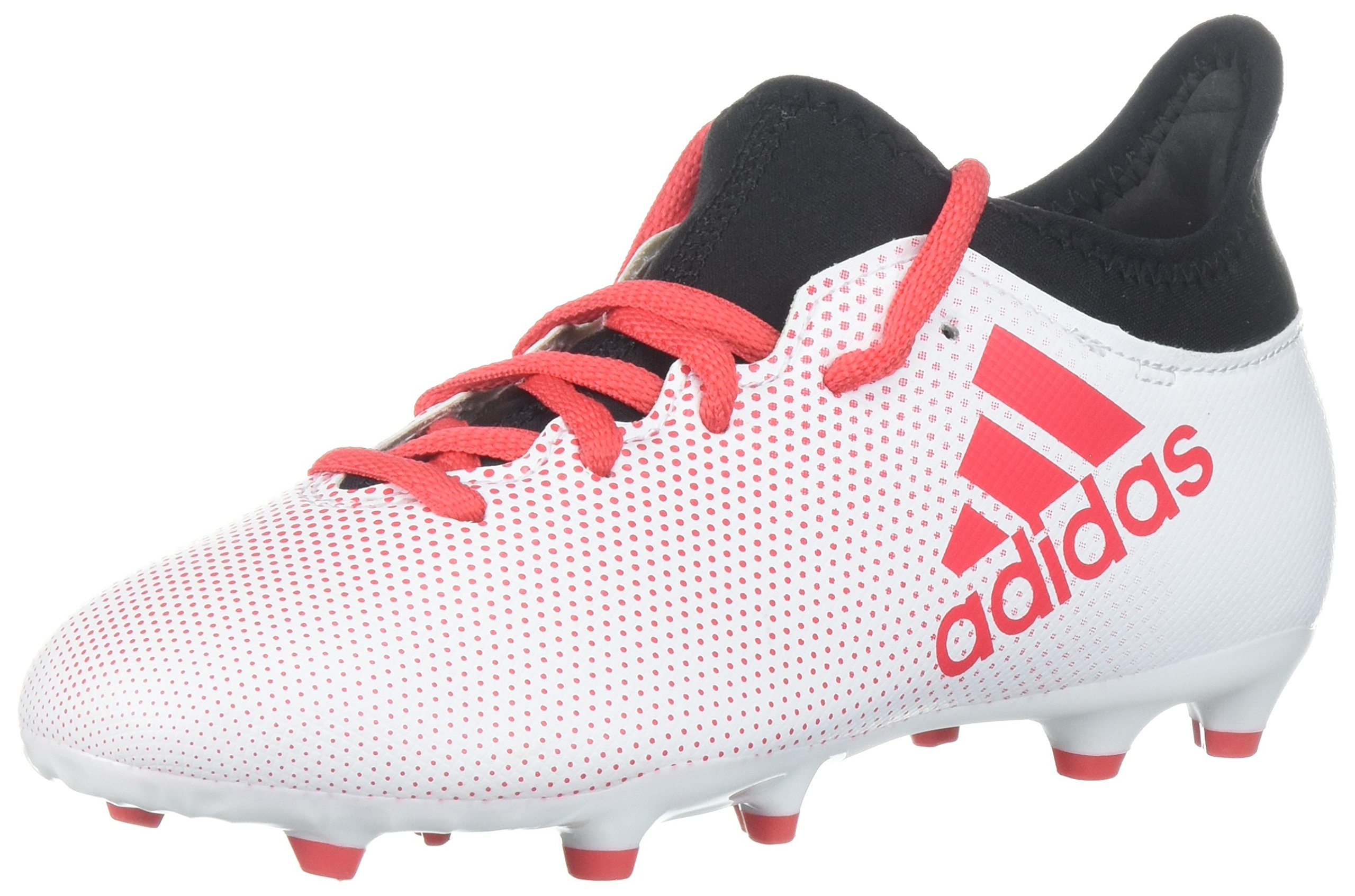 adidas Boys' X 17.3 FG J, Grey/Real Coral/Core Black, 5 M US Big Kid by adidas