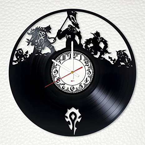 Amazon.com: Video Game Collectibles Vinyl Record Wall Clock ... on kitchen ideas books, decorating ideas for collectibles, storage for collectibles, kitchen ideas family, cabinets for collectibles,