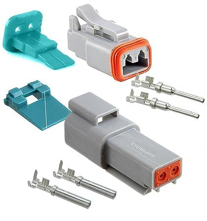 amazon com amphenol 2 pin connector pins \u0026 seals crimp terminals,14