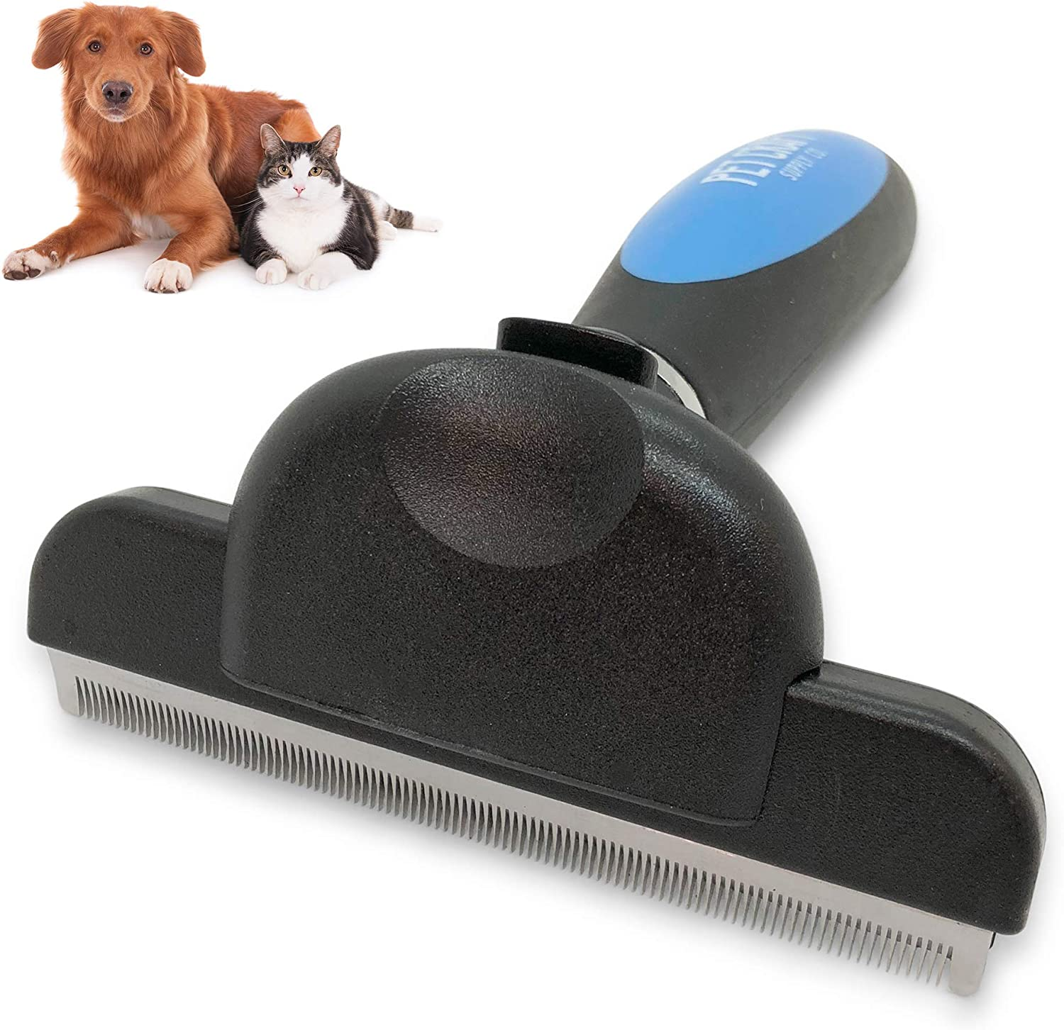 Pet Craft Supply Self-Cleaning Pet Grooming Hair Deshedding Brush Tool Small Dogs Cats Short to Long Hair
