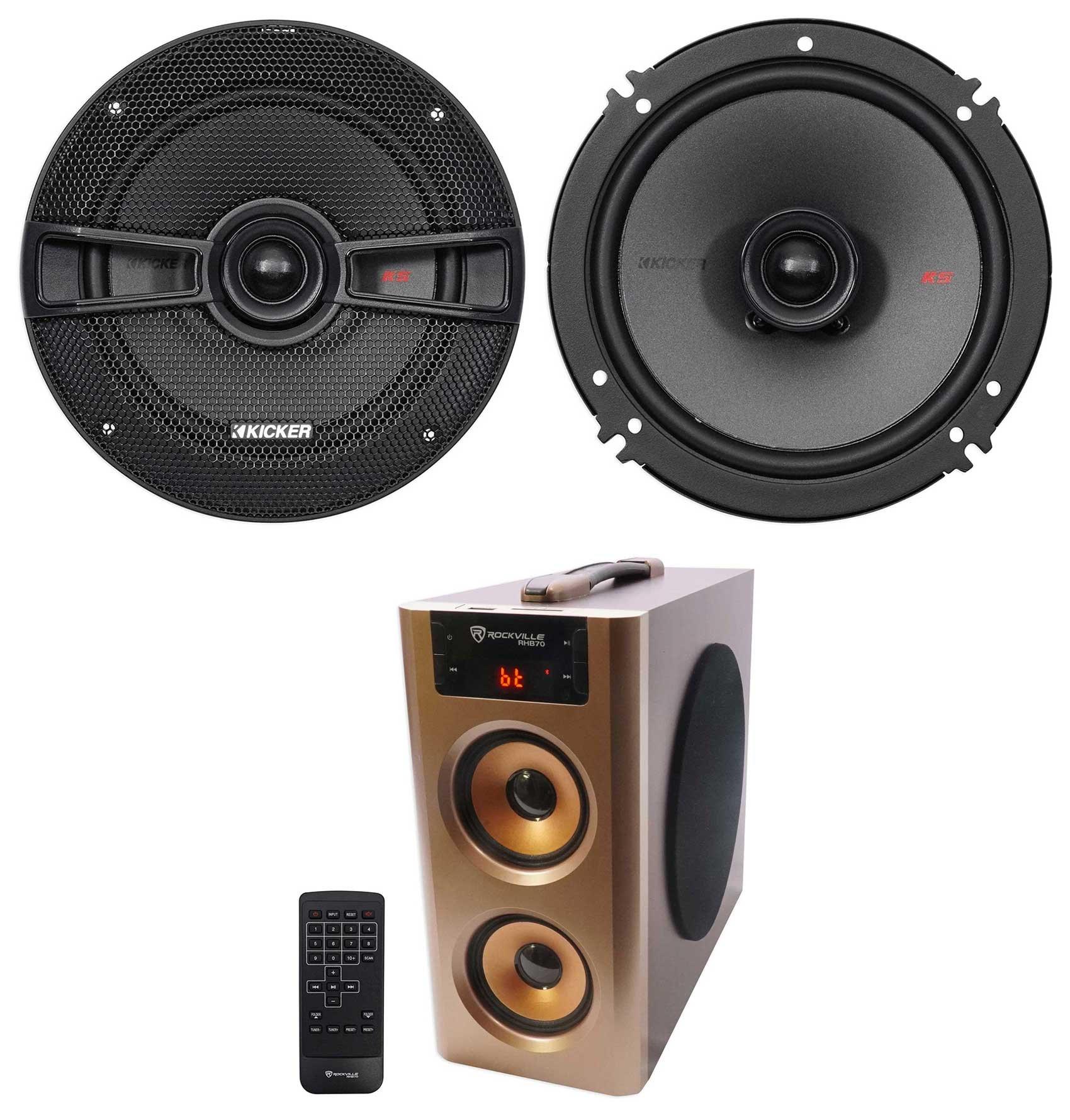 Pair Kicker 44KSC6504 KSC650 6.5'' 400w Car Audio Speakers KSC65 + Free Speaker