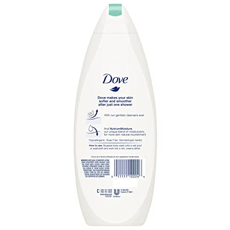 Dove Sulfate Free and Hypoallergenic, Sensitive Skin Body Wash, 22 oz, 4 count