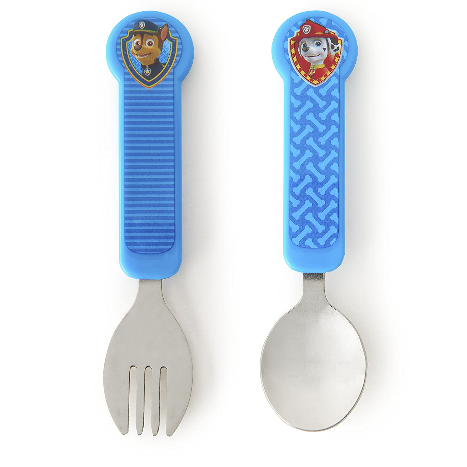 Munchkin Paw Patrol Toddler Fork and Spoon, Blue 10884
