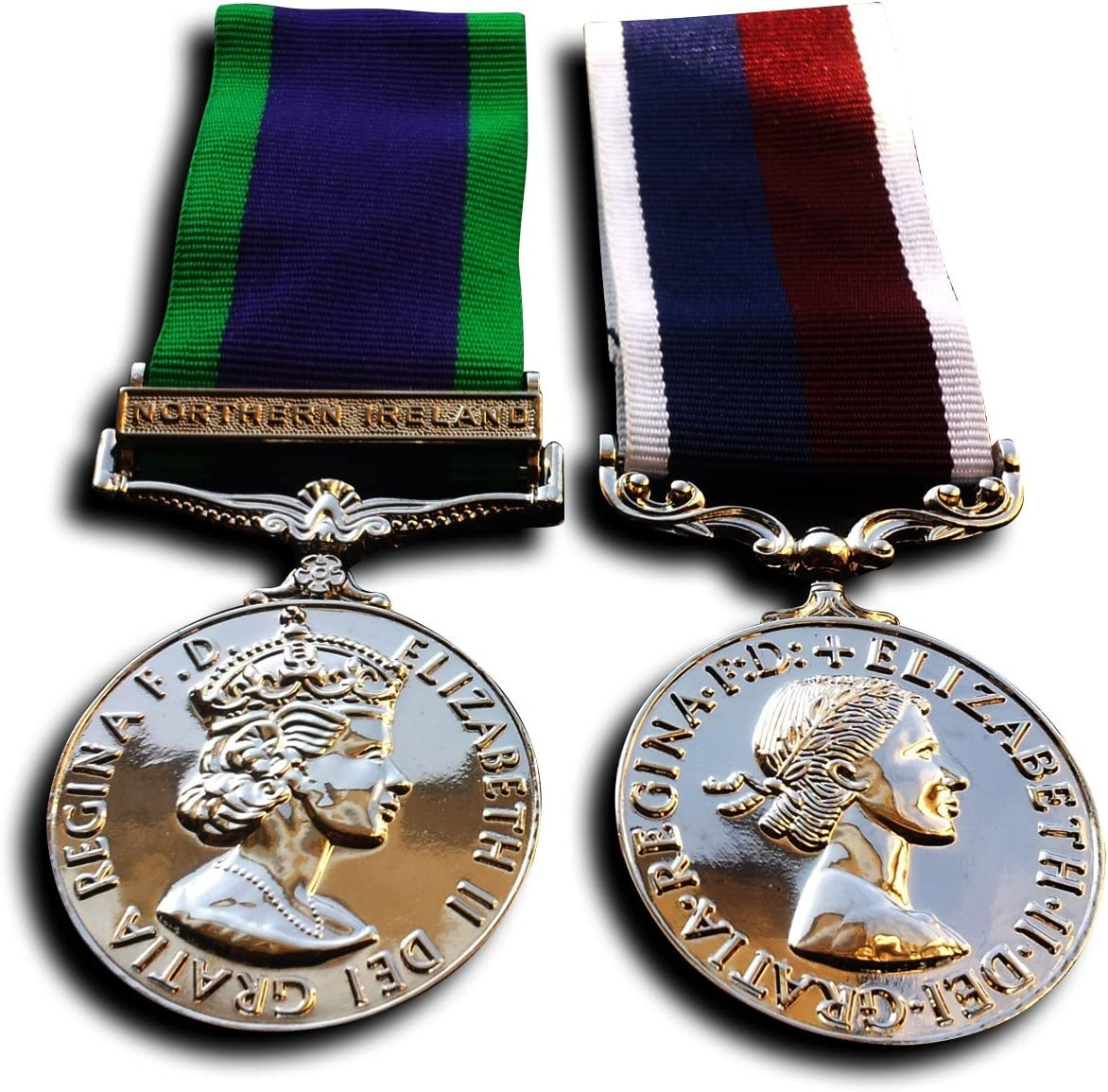 Medallas Militares De La Medalla De Servicio General medalla de Irlanda del Norte & RAF LS GCM WW2 British Repro: Amazon.es: Deportes y aire libre