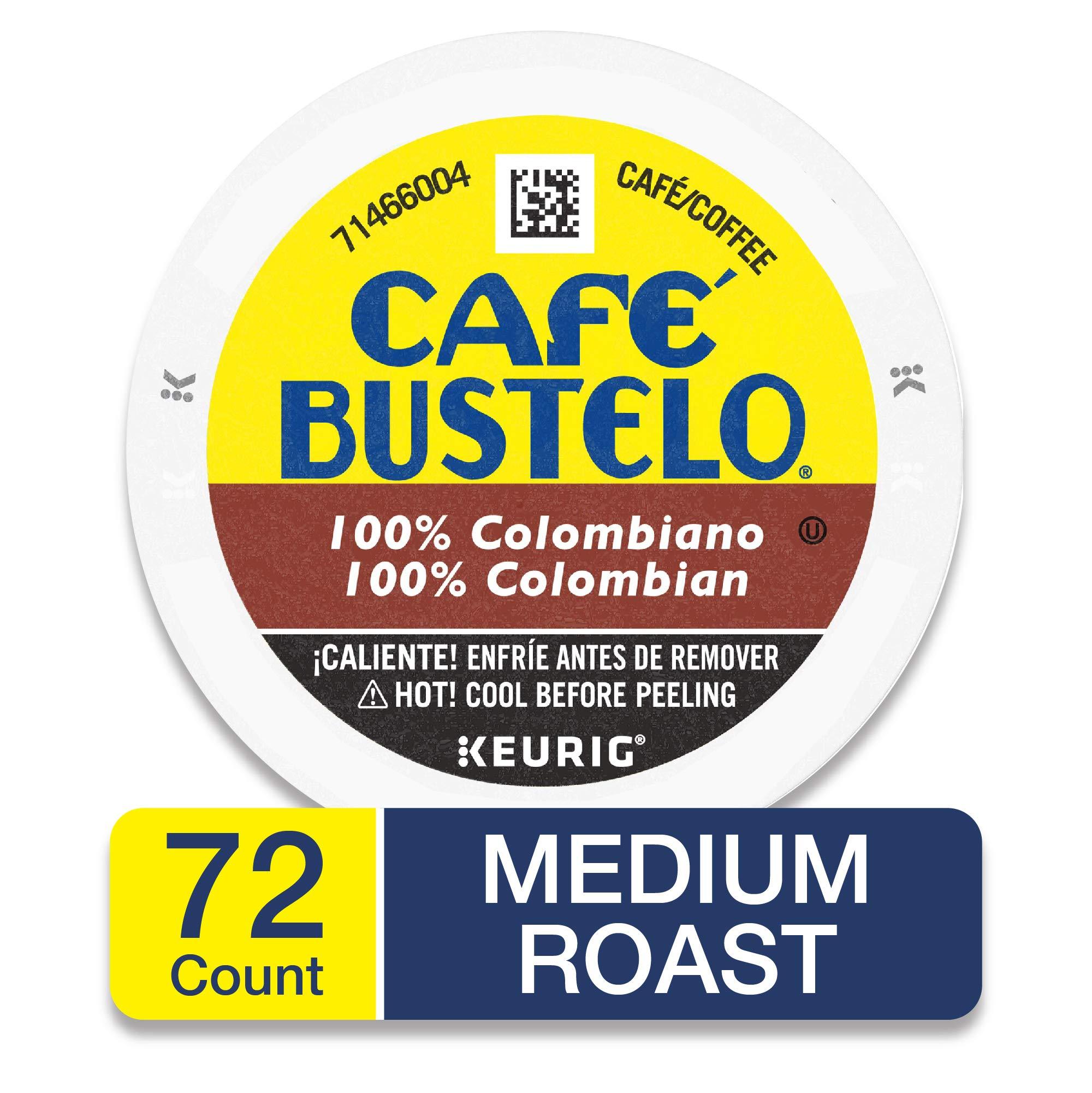 Café Bustelo 100% Colombian Medium Roast Coffee, 72 K Cups for Keurig Makers by Café Bustelo