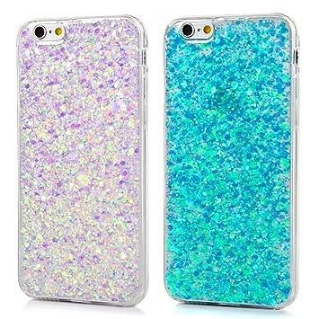 blue glitter iphone 6 case