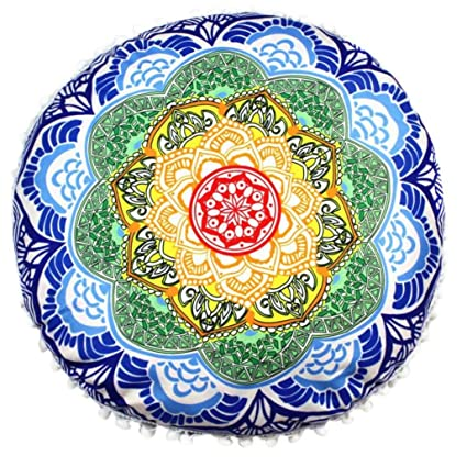 Viahwyt Funda de cojín de meditación super suave, diseño de ...