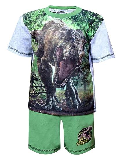 Jurassic World Pijama Dos Piezas - para Niño Verde Verde 4-5 Años