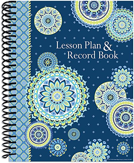 Eureka Blue Harmony Back to School Classroom Supplies Record and Lesson Plan Book