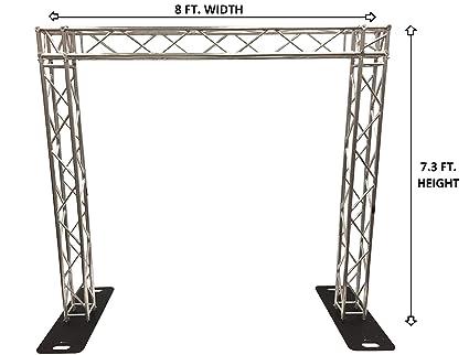 Amazon com: Complete 8 ft Square Aluminum Truss Goal Post