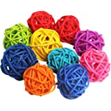 Hinmay 7PCS Rattan Ball Wedding Christmas Party Hanging Decoration Nursery Mobiles By Purple