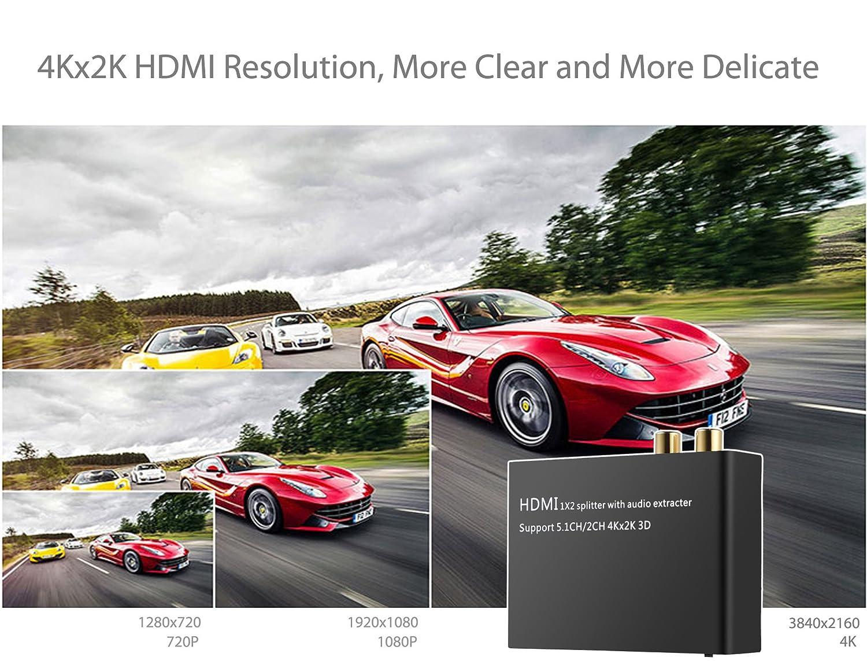 neoteck HDMI Audio Extractor 4 K DAC HDMI zu: Amazon.de: Elektronik
