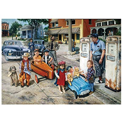 Jigsaw Puzzle 1000 Pieces for Adult Kids - Jigsaw Puzzle Child and Car Adults Children Puzzle Intellective Educational Toy - Large Family Entertainment Educational Puzzles (20'x 27'): Toys & Games