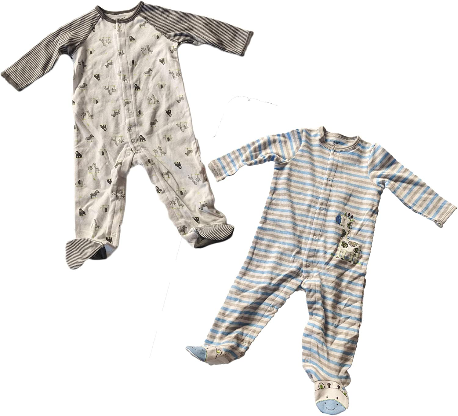 Little Me Baby 2 Pack Footies 3 Month Giraffe