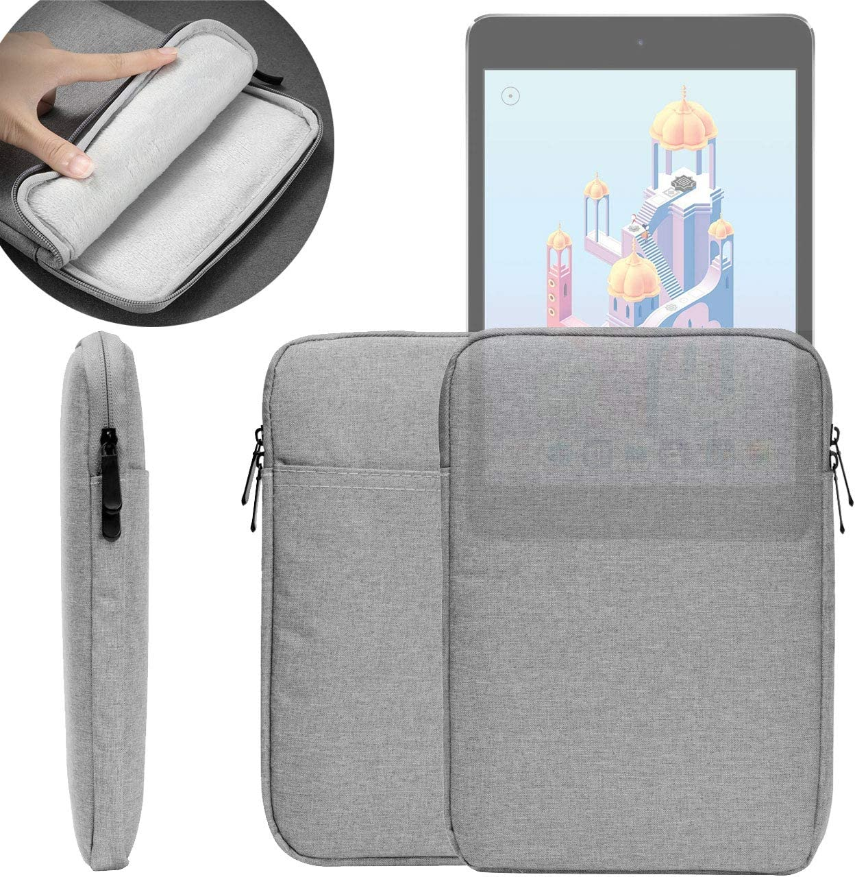 7.9-inch Waterproof Sleeve Case, UNIDOPRO Protective Travel Pouch Bag Cover Compatible iPad Mini 5 2019 / iPad Mini 4 3 2 1st Gens 7.9-inch Tablet and More