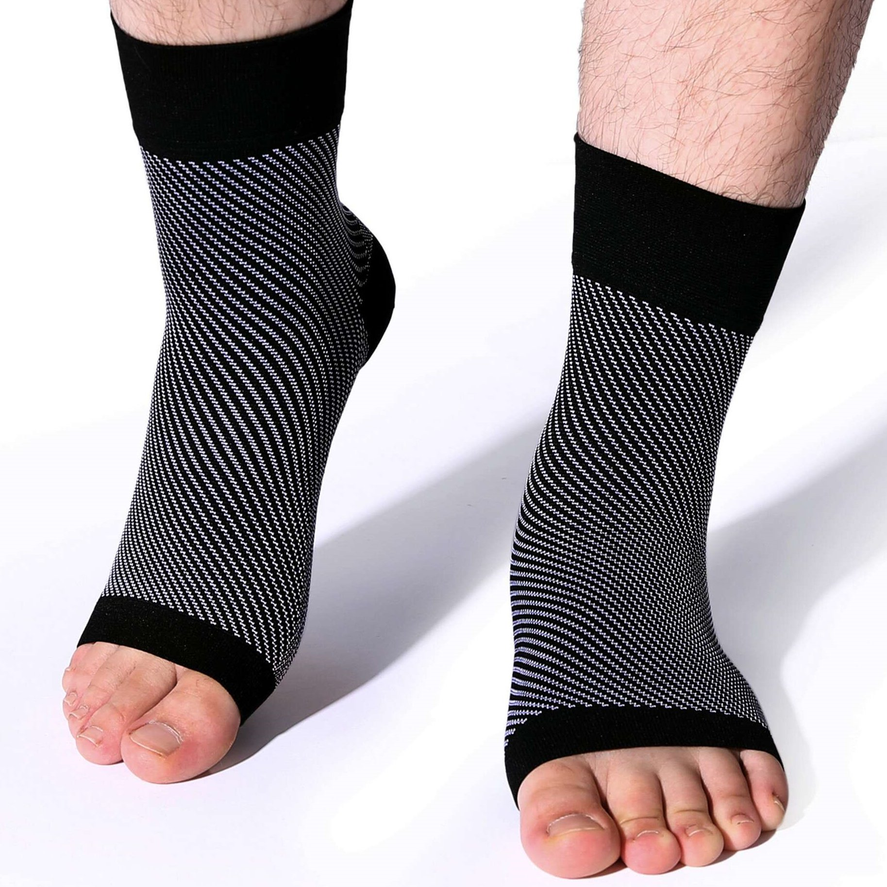 Plantar Fasciitis Socks - Ankle Brace Compression Support Sleeve for Comfortable Rapid Relieves Achilles Tendonitis Boosts Recovery from Joint Pain, Sprain and Edema