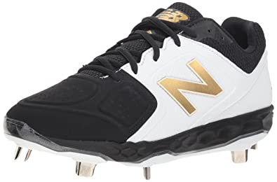 f7bf9c3f982b New Balance Women's Velo V1 Metal Softball Shoe, Black/White, ...