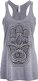 mandala yoga tank top Hand block printed
