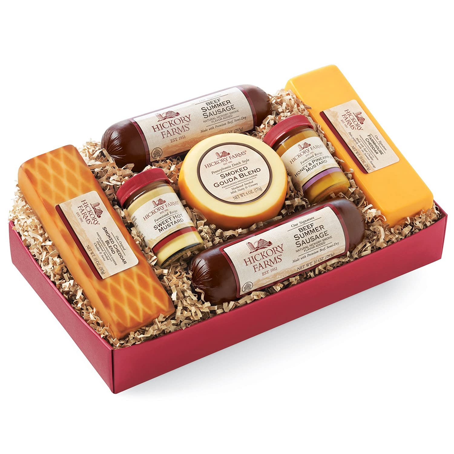 Amazon.com : Hickory Farms Summer Sausage and Cheese Gift Box ...