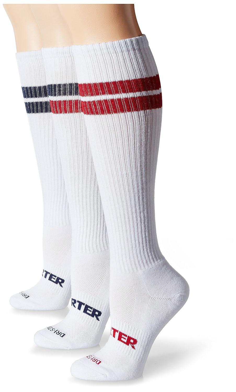 Starter womens standard 3-pack Under-knee Striped Tube Socks STR111416