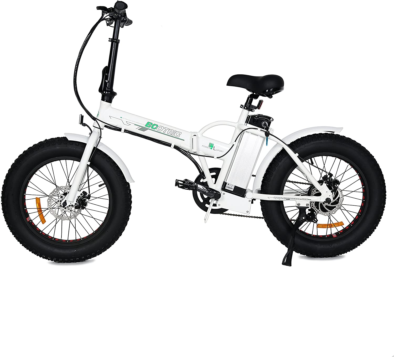 ecotric white foldable electric bike