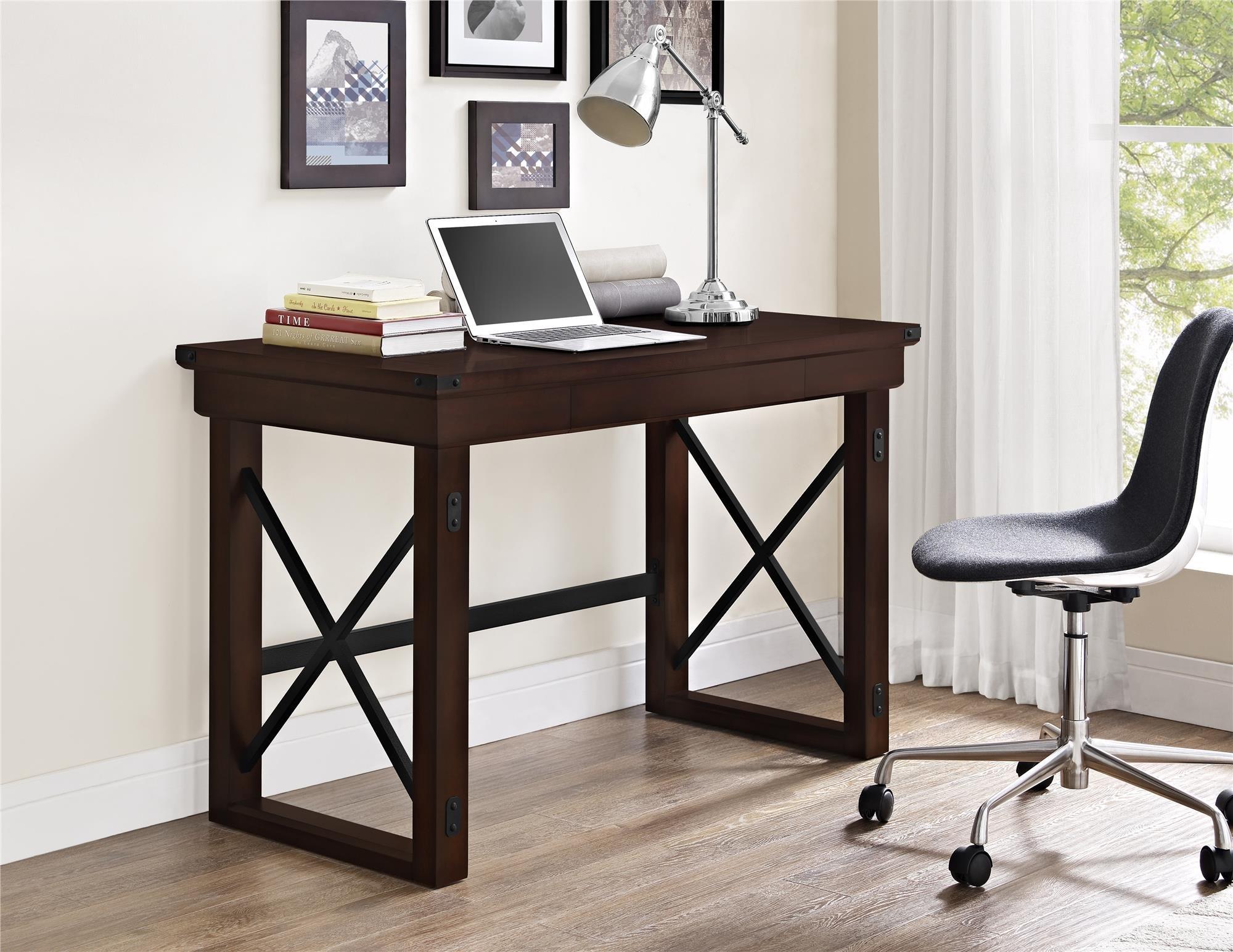 Ameriwood Home Wildwood Wood Veneer  Desk, Espresso by Ameriwood Home (Image #4)