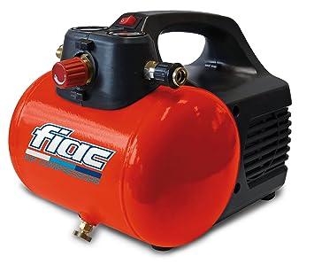 Compresor de aire Fiac portátil con depósito con 6 Lt 0,3 Kw de potencia, práctico y manegevole: Amazon.es: Deportes y aire libre