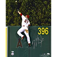 "$599 » Mike Trout Los Angeles Angels Autographed 16"" x 20"" Home Run Robbing Catch Photograph - Autographed MLB Photos"
