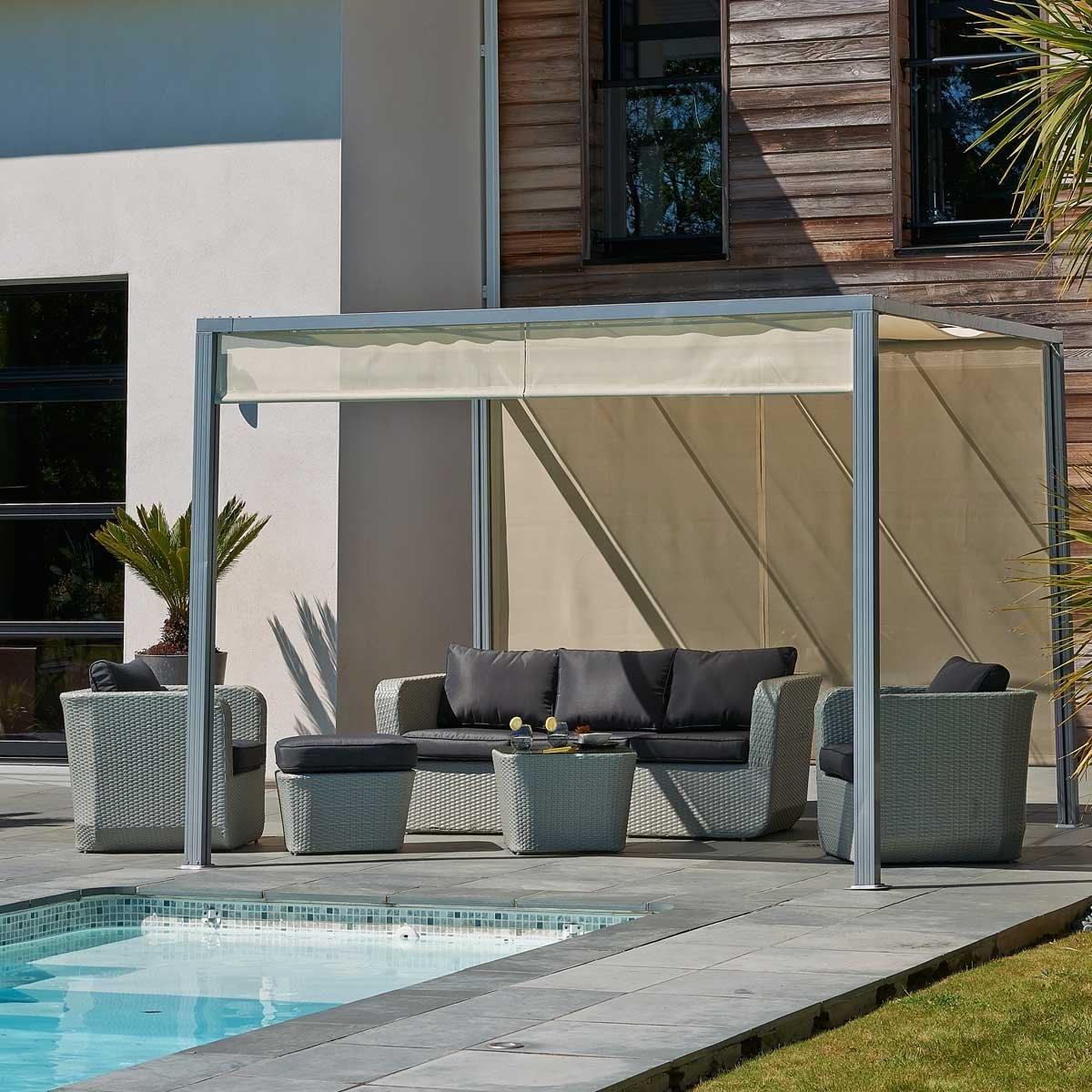 tonnelle alu 3x3 excellent tonnelle de jardin aluminium brico depot abri de jardin metal au gr. Black Bedroom Furniture Sets. Home Design Ideas