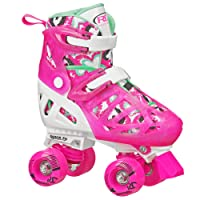Roller Derby Trac Star Patines Ajustables para Niñas,Large 3-6 (US), 20-23 cms (MX)