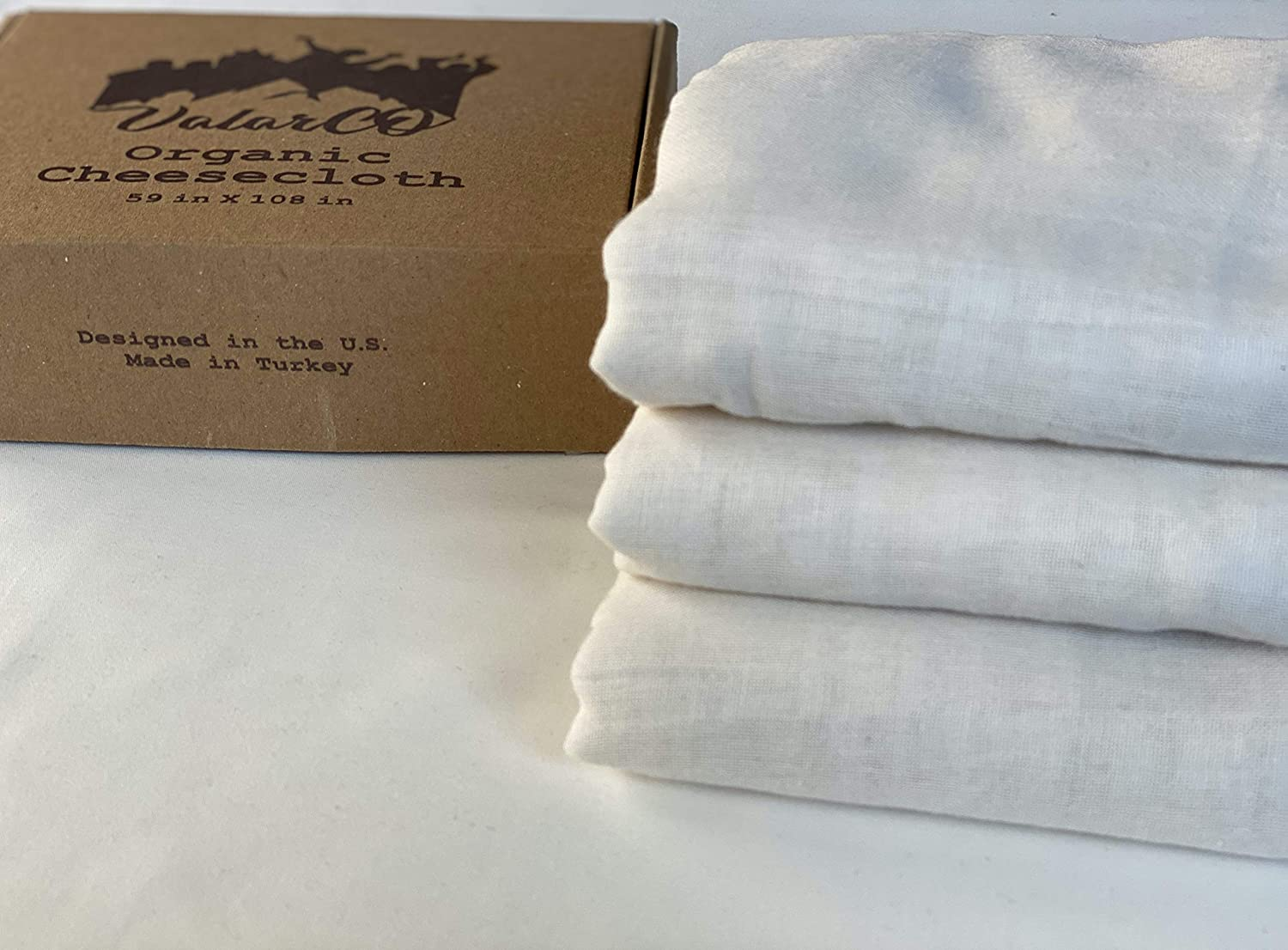 Organic Cheesecloth (59 in x 108 in), Multi Use, Food Grade for Straining Cheese, Nut Milk, Cold Brew, GOTS Certified, Unbleached, Reusable 100% Organic Cotton