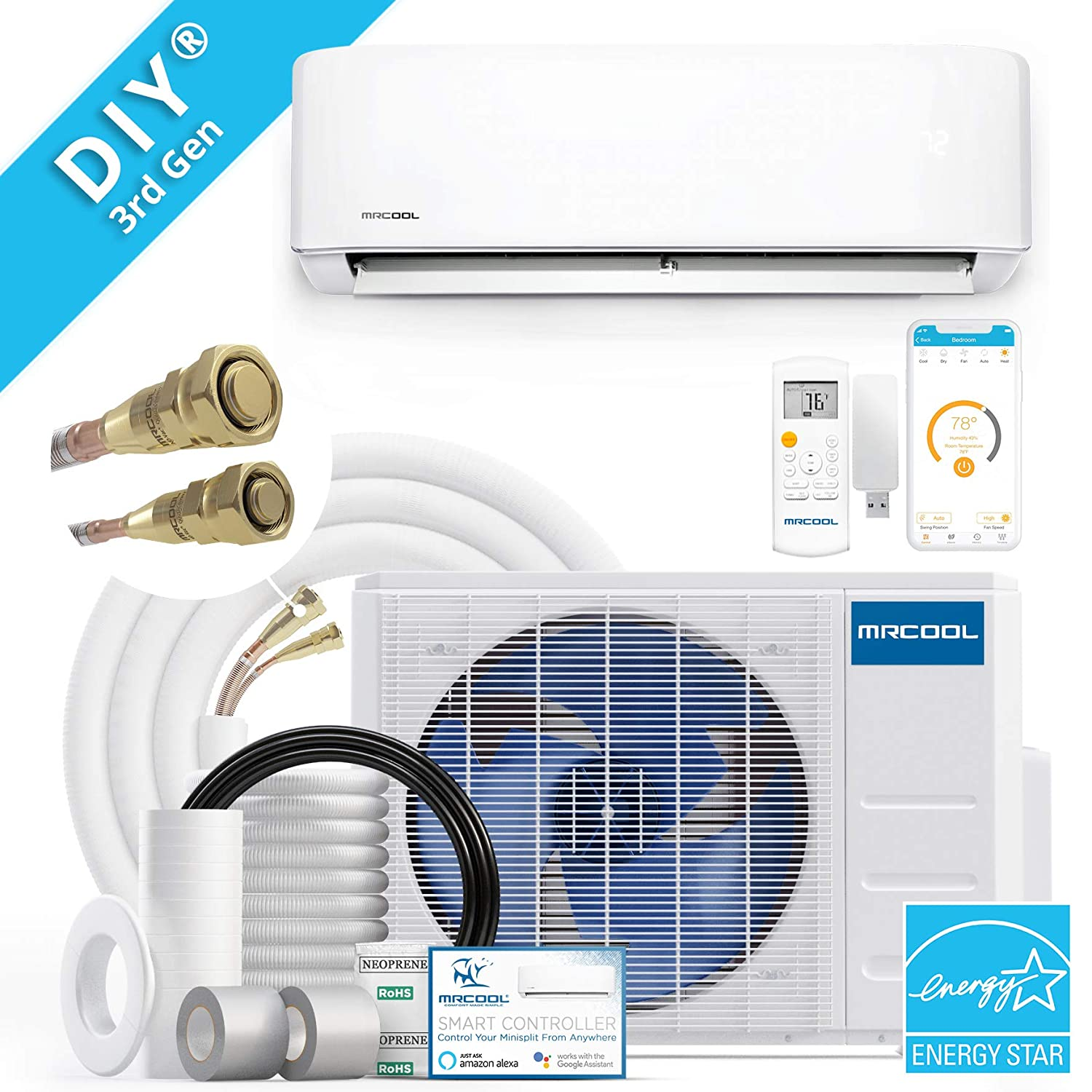 MRCOOL DIY 18k BTU 20 SEER Ductless Heat Pump Split System 3rd Generation - Energy Star 230v