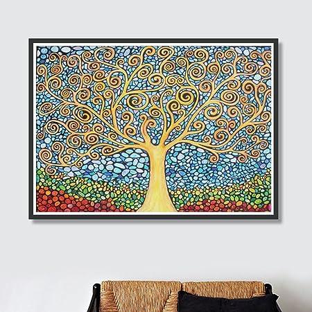 Arbre Abstrait 5d Diy Diamant Peinture Kit Plein Carré Strass Broderie Point De Croix Arts Craft Pour La Décoration Murale 38 30cm