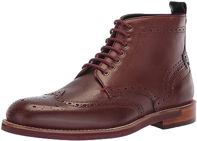 746c76e7f4c6 Ted Baker Men s HJENNO Oxford Boot Dark red Leather 7 ...